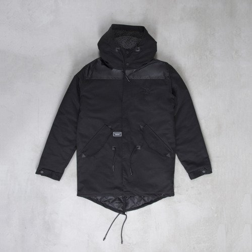 Backyard Cartel kurtka zimowa Parka long fit black