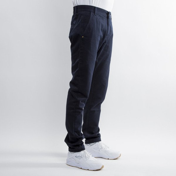 Backyard Cartel spodnie Chinos Back anti fit navy