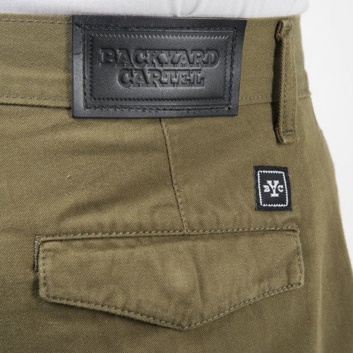 Backyard Cartel spodnie Joggers Band khaki