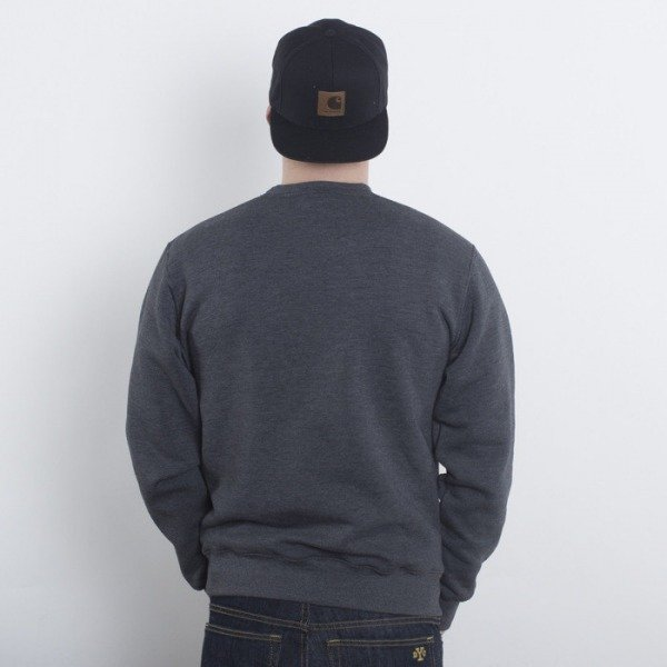 Blud bluza Academy Crewneck dark grey heather