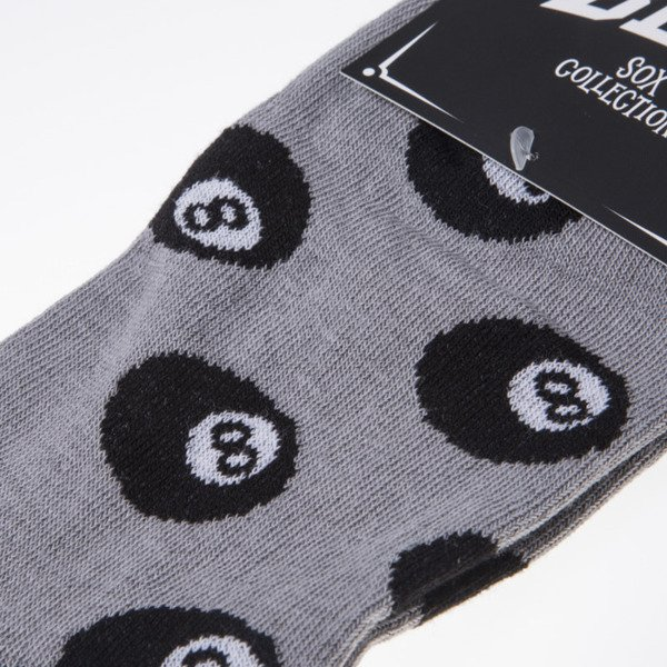 Blud skarpety socks 8 Ball no show grey