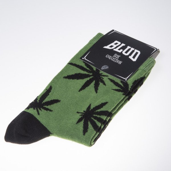 Blud skarpety socks Kush quarter green