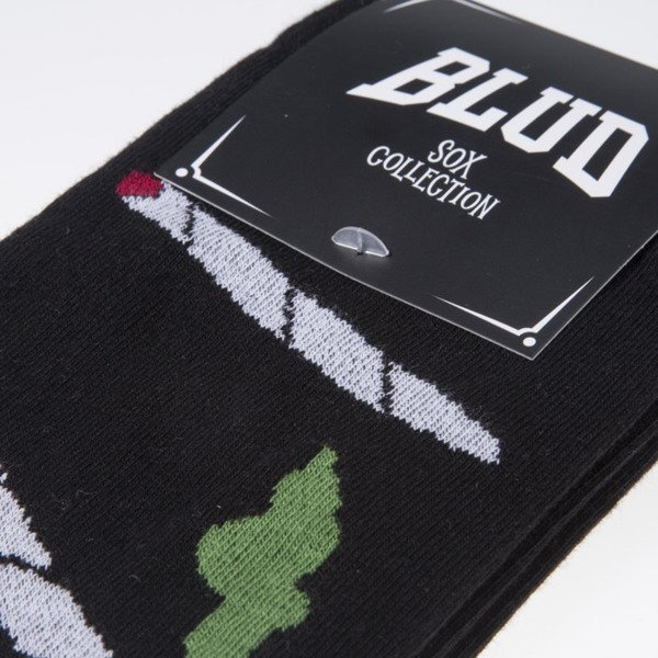 Blud skarpety socks Smoke quarter black