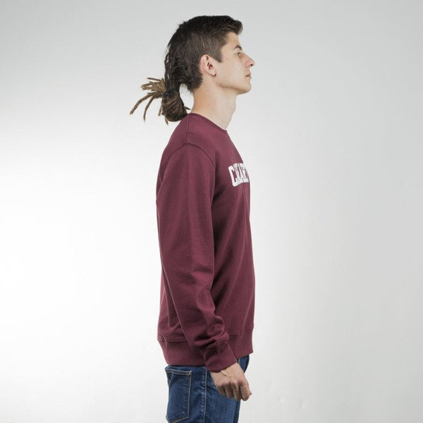 Bluza Carhartt WIP College Sweat chianti / white