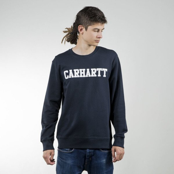 Bluza Carhartt WIP College Sweat navy / white
