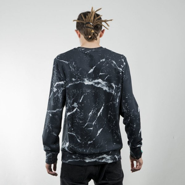 Bluza Carhartt WIP Fan Sweat marble print / black / white