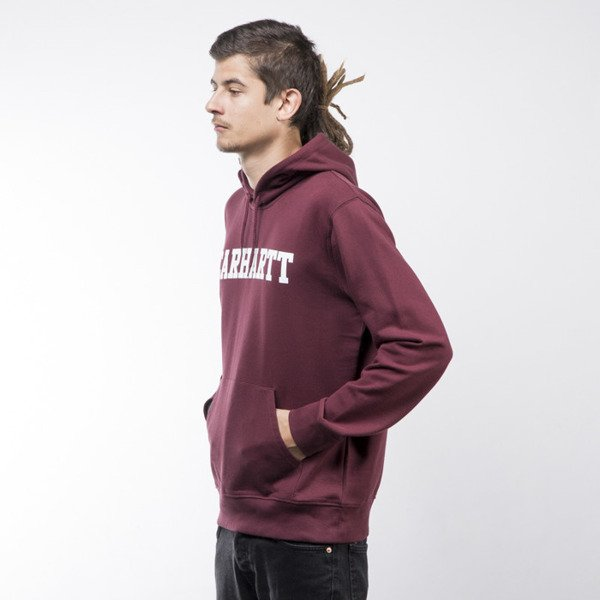 Bluza Carhartt WIP Hooded College Sweat chianti / white
