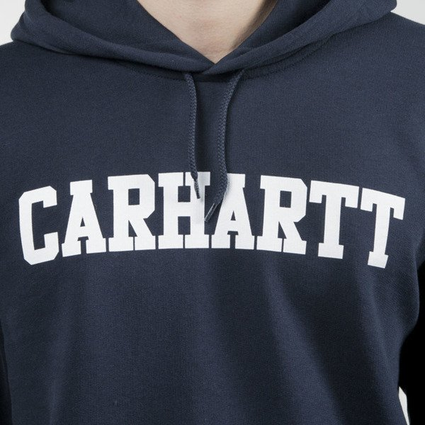 Bluza Carhartt WIP Hooded College Sweat navy / white