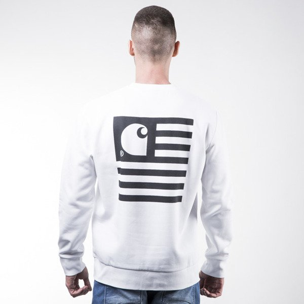 Bluza Carhartt WIP State Flag Sweat white / black