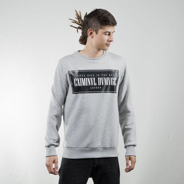Bluza Criminal Damage Since Sweater grey black