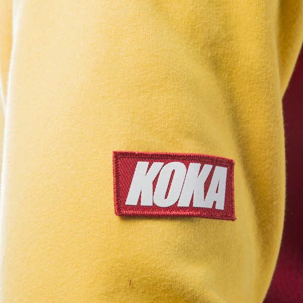 Bluza Koka Hoodie Good Stuff black / yellow