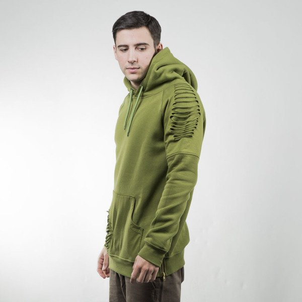 Bluza Phenotype Pre-Cut Hoodie olive green
