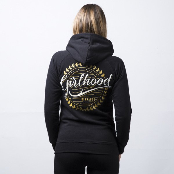 Bluza damska Diamante GH Zip Hoodie Girlhood black