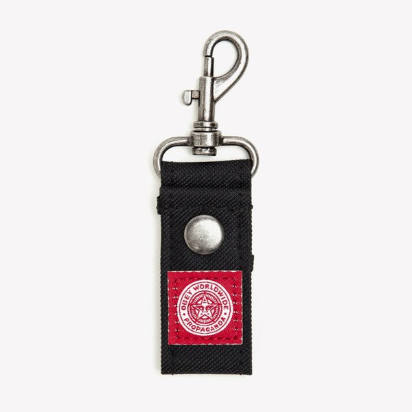 Brelok do kluczy Obey Revolt Red Key Chain black