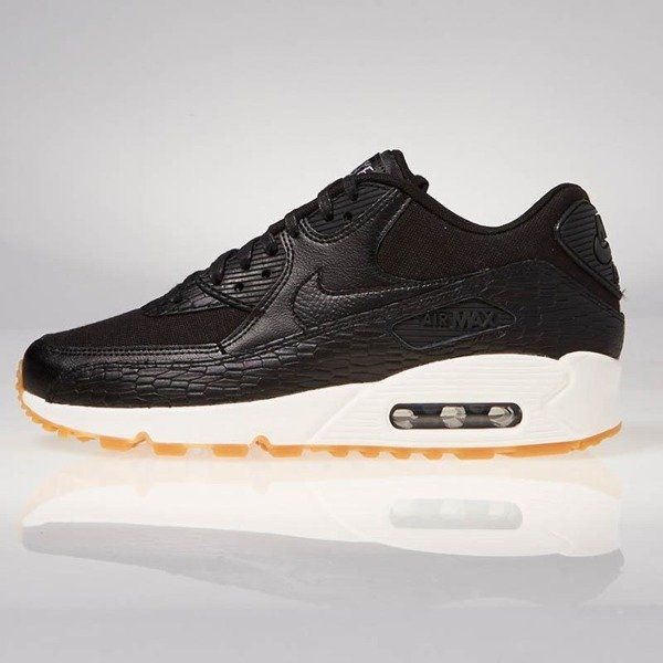 superior quality 64026 3ffae ... Buty sneakers Nike WMNS Air Max 90 Premium Leather black  black-dark  grey- ...