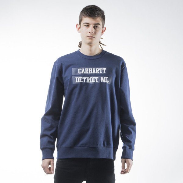 Carhartt WIP 313 sweat blue / multicolor