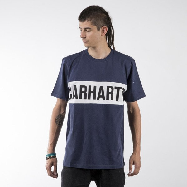 Carhartt WIP koszulka t-shirt Shore blue / white / black