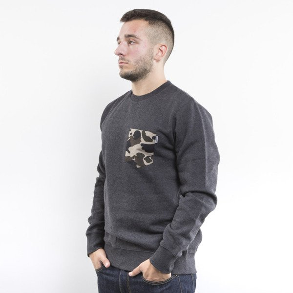 Carhartt bluza crewneck Eaton Pocket black heather / camo duck pocket