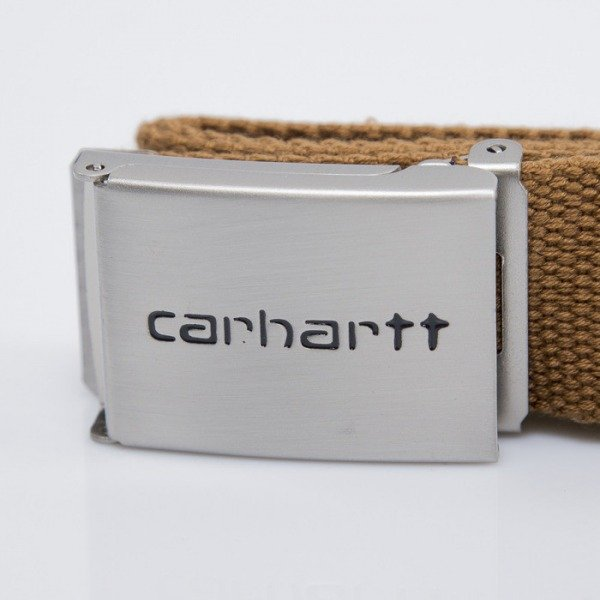 Carhartt pasek Clip Chrome Carhartt Brown