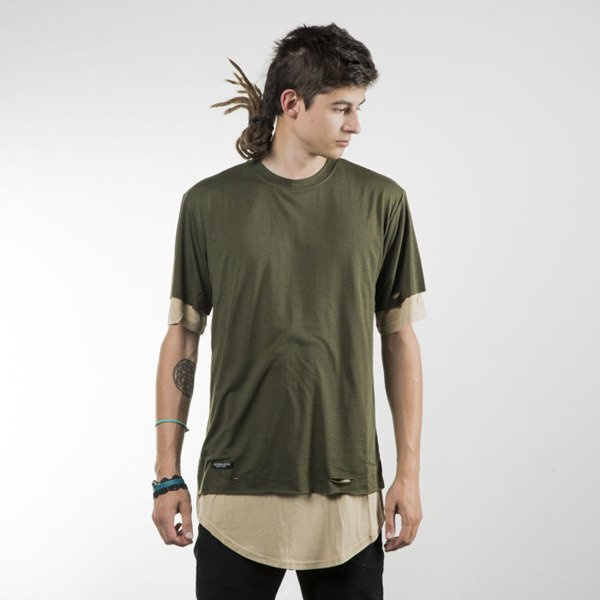 Cayler & Sons BL koszulka t-shirt Deuces Long Layer olive / sand BL-CAY-SU16-AP-10-02