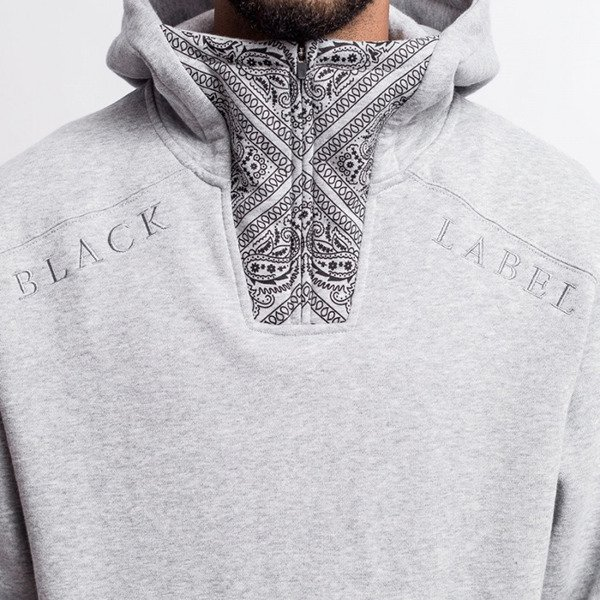 Cayler & Sons BLACK LABEL bluza sweatshirt Bumrush Hoody grey / black BL-CAY-AW16-AP-12-01