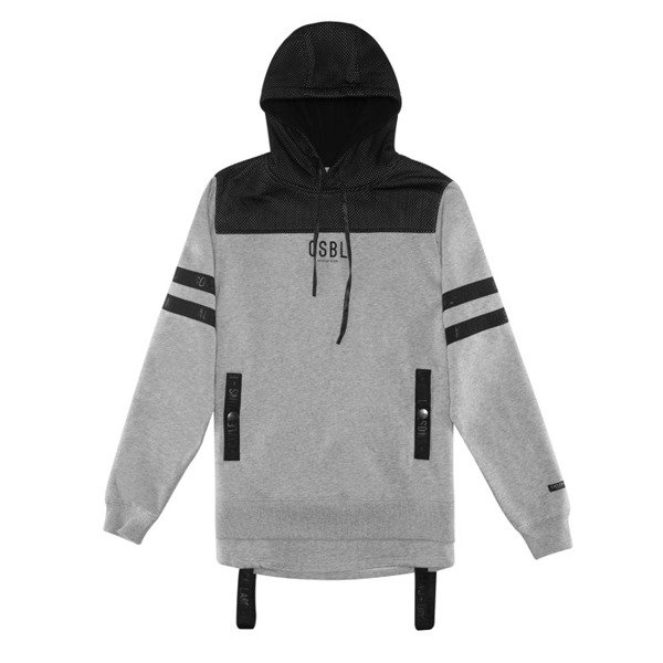 Cayler & Sons BLACK LABEL bluza sweatshirt Judgement Day Hoody grey heather / black BL-CAY-AW16-AP-09-01