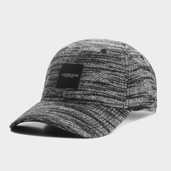 Cayler & Sons BLACK LABEL czapka Legend Curved Cap black - grey knit