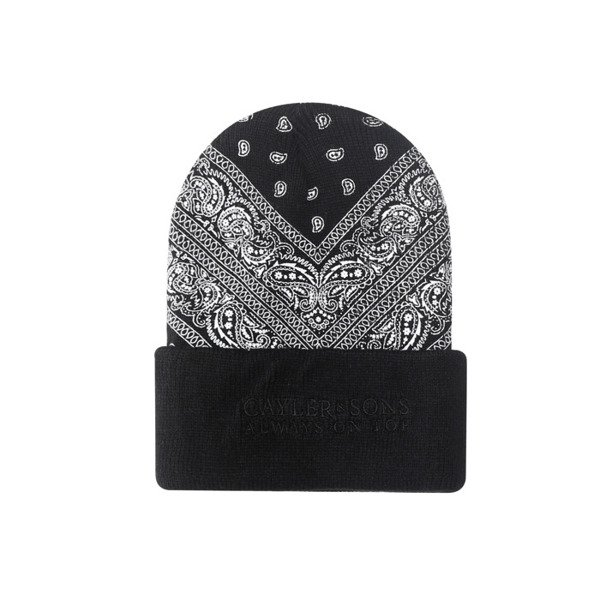 Cayler & Sons BLACK LABEL czapka zimowa Bumrush Old School Beanie black / white BL-CAY-AW16-BN-01