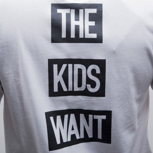 Cayler & Sons BLACK LABEL koszulka Kids Want Long white / black (BL-CAY-SS15-AP-13-01)