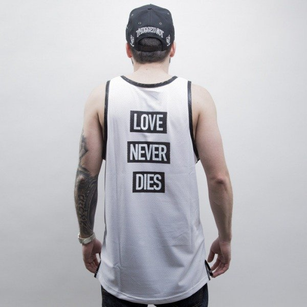 Cayler & Sons BLACK LABEL koszulka tank top Hood Love Mesh Jersey white / black (CAY-SS15-AP-19-01)