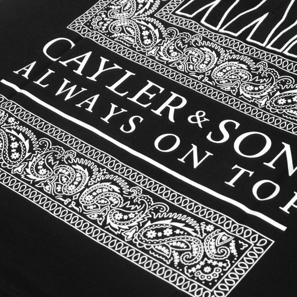 Cayler & Sons BLACK LABEL t-shirt koszulka Bumrush Long black / white BL-CAY-AW16-AP-24-01