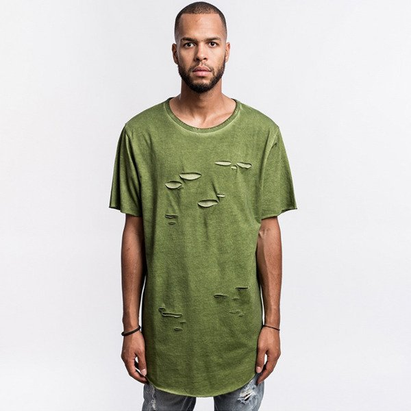 Cayler & Sons BLACK LABEL t-shirt koszulka Ripped Scallop Tee olive / olive BL-CAY-AW16-AP-29-01