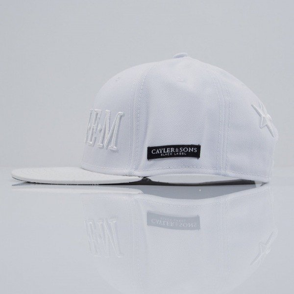 Cayler & Sons Black Label czapka snapback Harlem white / black (BL-CAY-SS15-11-01)