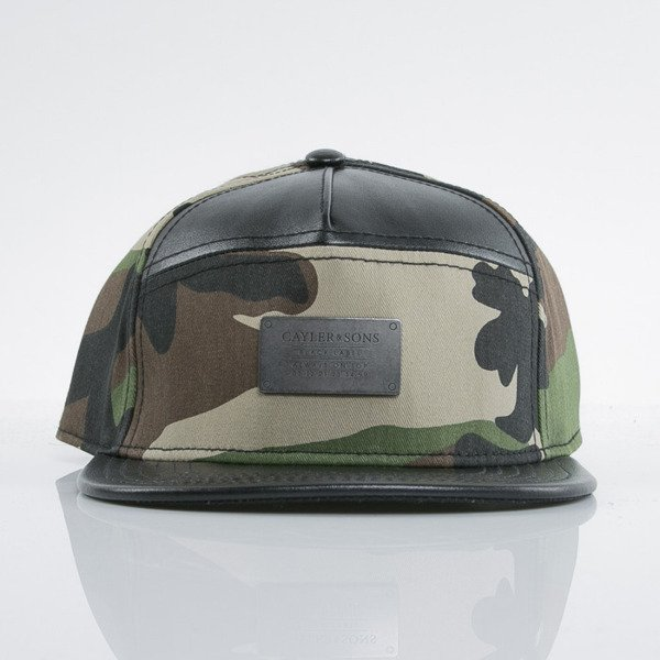 Cayler & Sons Black Label czapka snapback Plated black / woodland (BL-CAY-AW15-11-01-OS)