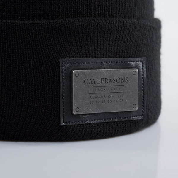 Cayler & Sons Black Label czapka zimowa Plated Old School Beanie black / black (BL-CAY-AW15-BN-02-01-OS)