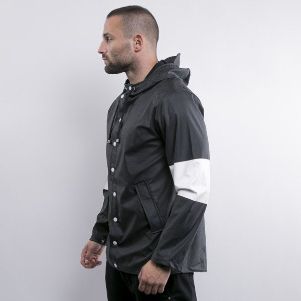 Cayler & Sons Black Label kurtka Tres Slick Rain Jacket black white (BL-CAY-AW15-AP-01-02)