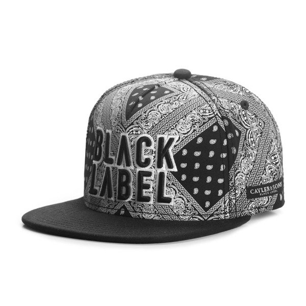 Cayler & Sons Black Label snapback czapka Bumrush Cap black / white BL-CAY-AW16-04