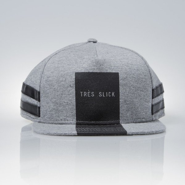 Cayler & Sons Black Label snapback czapka Tres Slick Cap light grey heather / black (BL-CAY-AW15-15-02)