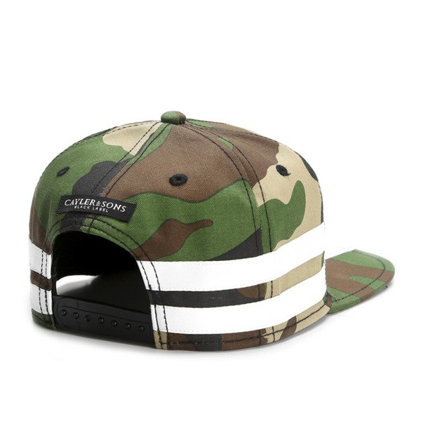 Cayler & Sons Black Label snapback czapka Tres Slick Cap woodland / white (BL-CAY-SS16-07-02)