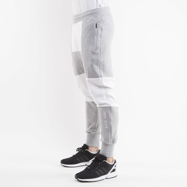 Cayler & Sons Black Label spodnie dresowe Tres Slick Low Crotch Sweatpants grey heather / white BL-CAY-AW15-AP-26-02