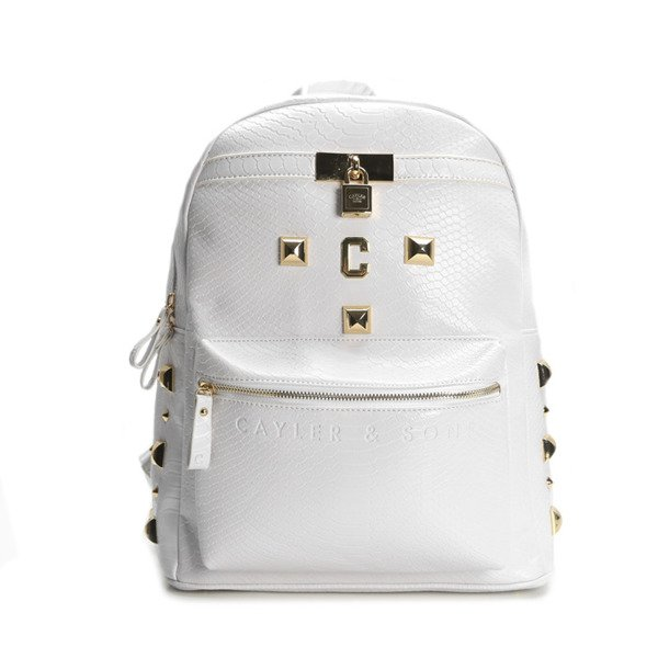 Cayler & Sons Gold Label plecak Upgrade Backpack white python / gold (GLD-CAY-SS16-BP-02-03)
