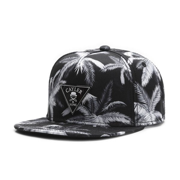 Cayler & Sons Gold Label snapback czapka Palms Cap black / grey GLD-CAY-SU16-01