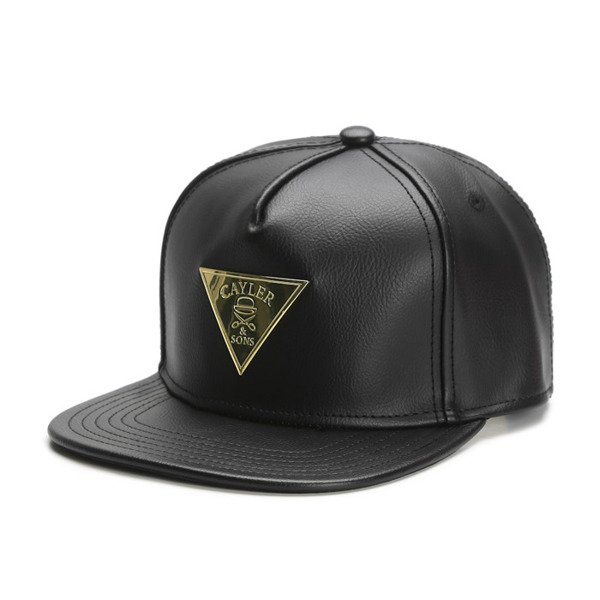 Cayler & Sons Gold Label snapback czapka Solid Cap black / gold (GLD-CAY-SS16-17-01)