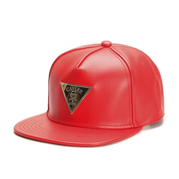 Cayler & Sons Gold Label snapback czapka Solid Cap red / gold (GLD-CAY-SS16-17-02)