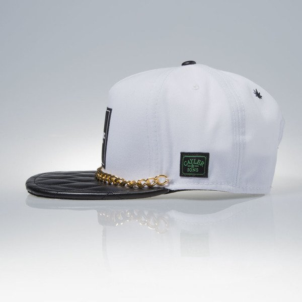 Cayler & Sons Green Label snapback czapka Cali Love Cap white / black / gold (GL-CAY-SS16-03-02)