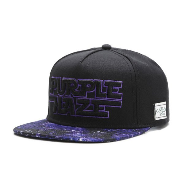 Cayler & Sons Green Label snapback czapka Dark Haze Cap black / purple GL-CAY-SU16-05