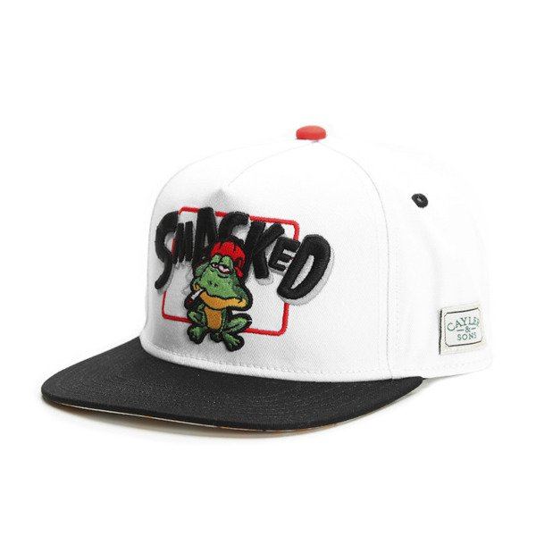 Cayler & Sons Green Label snapback czapka Le Frog Cap white / black / mc (GL-CAY-SS16-11)
