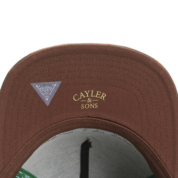 Cayler & Sons Green Label snapback czapka Legalize It Cap brown / gold (GL-CAY-SS16-04)