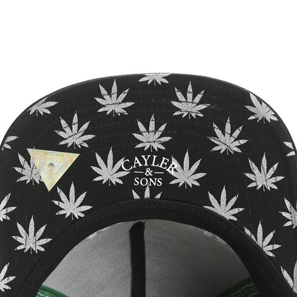 Cayler & Sons Green Label snapback czapka We Get High Cap black / grey / silver (GL-CAY-SS16-19)