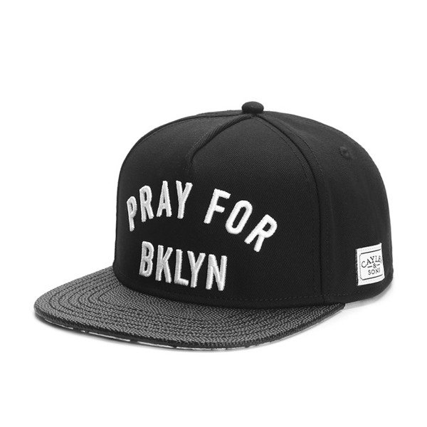 Cayler & Sons White Label snapback Pray For BKLYN Cap black / white (WL-CAY-SS16-03)